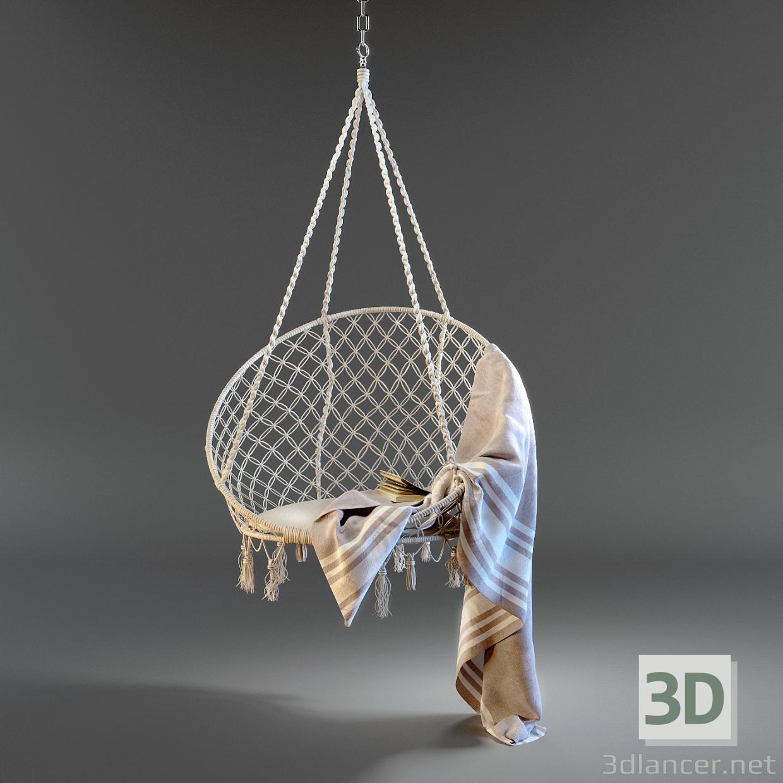3d Suspended hammock model buy - render