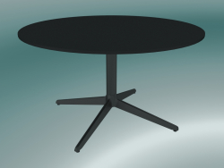 Table MISTER X (9507-51 (Ø80cm), H 50cm, noir, noir)