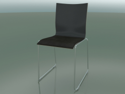 Leather upholstered chair (107)