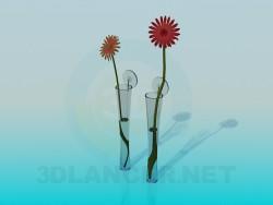 Narrow flower vases