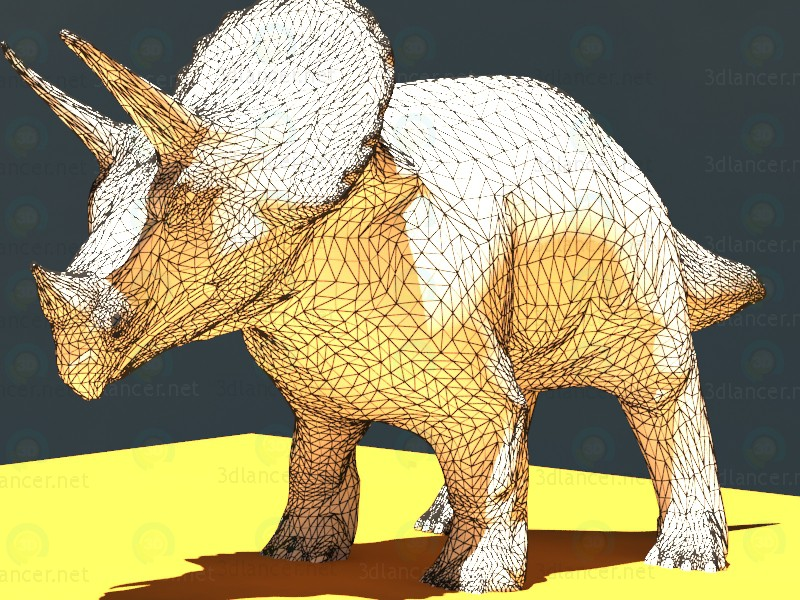 modelo 3D Triceratops (TRICE) - escuchar