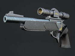 A gun with telescopic sight. Zone II with an optical sight.