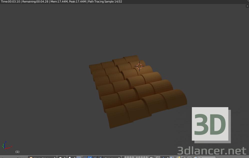 3d модель Крыша в блендер – превью
