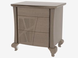 Bedside table with 3 drawers on figured legs CDMONP