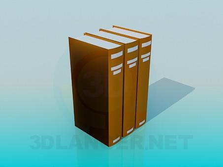 modelo 3D Libros - escuchar