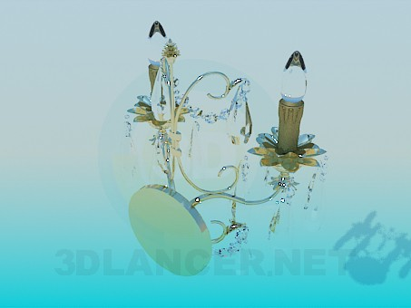 3d model Sconce Candles - preview
