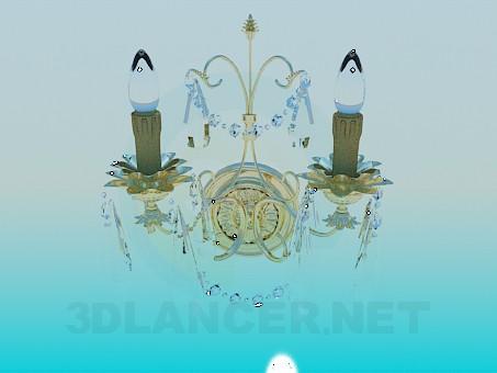 modelo 3D Velas de candelabro - escuchar