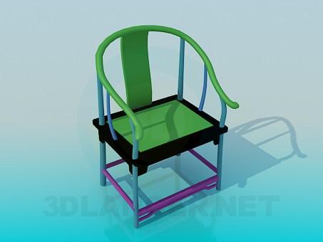 3d модель Разноцветный стул – превью