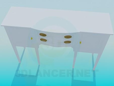 3d модель Тумба під дзеркало – превью