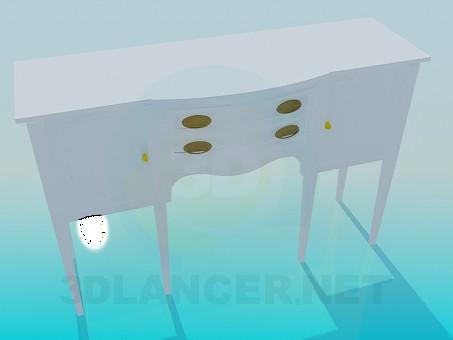 modelo 3D Soporte por el espejo - escuchar