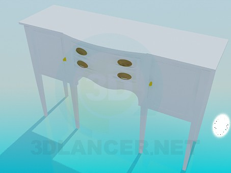 3d model Stand by the mirror - preview