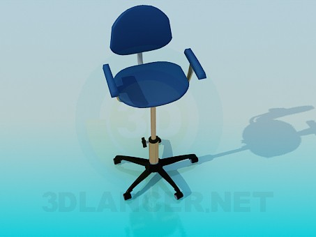 3d modeling Chair with adjustable leg model free download