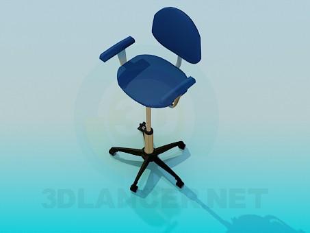 modelo 3D Silla con patas ajustables - escuchar
