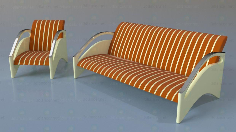 3d модель Набор мягкой мебели – превью