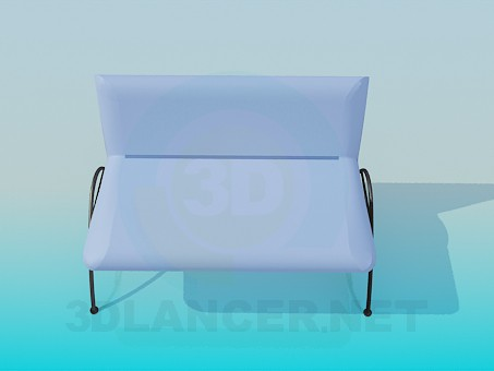 3d modeling Upholstered Bench 2-berth model free download