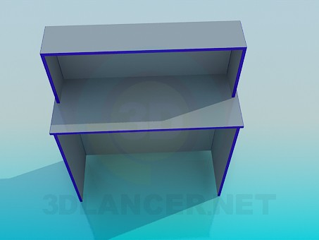 3d model Cash reception desk - preview
