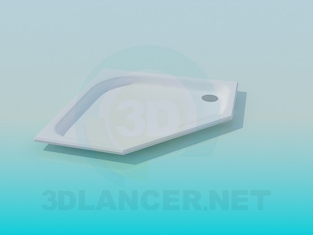 3d model Flat shower tray - preview
