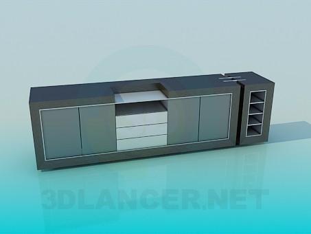 descarga gratuita de 3D modelado modelo Tiempo stand-TV