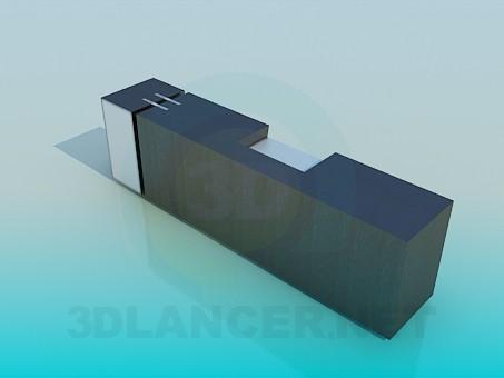 modelo 3D Tiempo stand-TV - escuchar