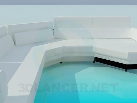 modelo 3D Largo sofá - escuchar
