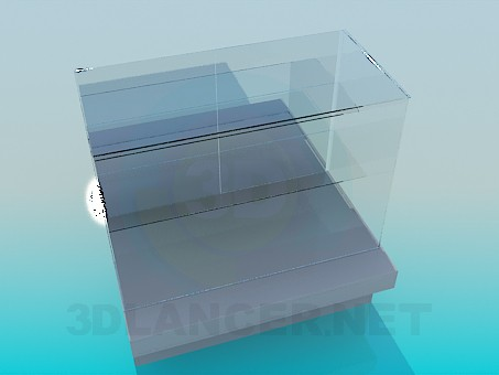 3d model The glass storefront - preview
