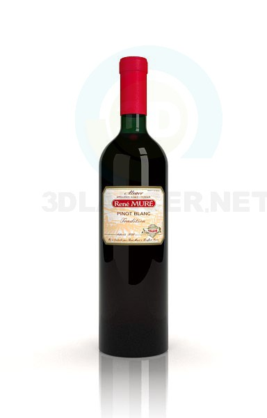 3d model wine - preview
