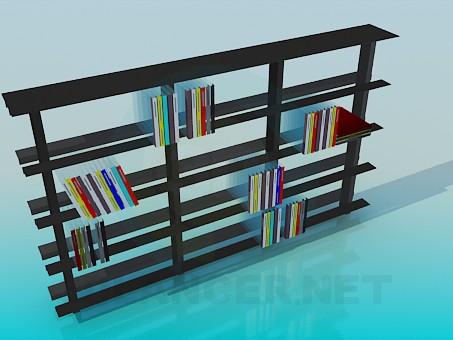 3d modeling Shelving for books model free download