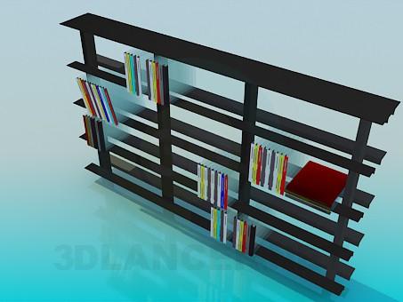 3d модель Стеллаж для книг – превью