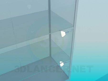 3d модель Витрина алюминиевый профиль – превью