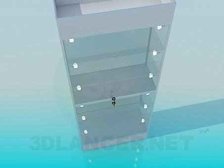 modelo 3D Escaparate de Perfil de aluminio - escuchar