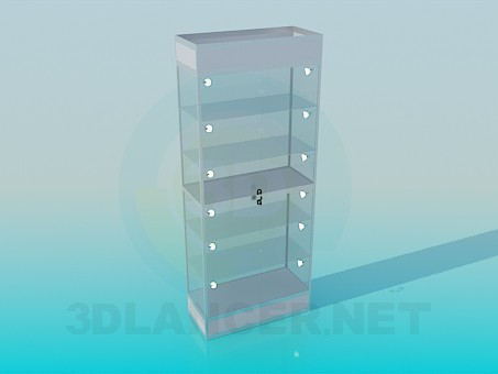 3d model Showcase of aluminum profile - preview