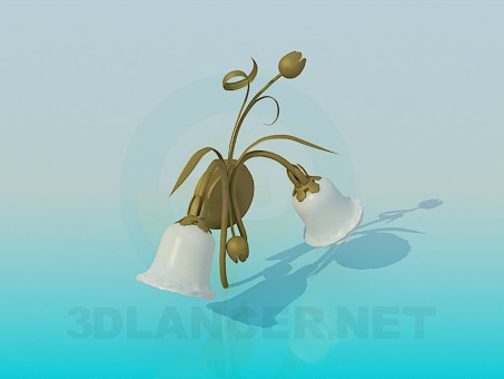 3d model Sconce with tulips - preview