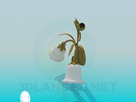 3d модель Бра с тюльпанами – превью