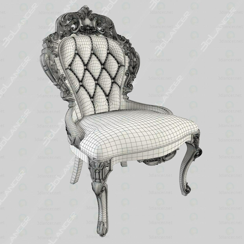 silla tallada 3D modelo Compro - render