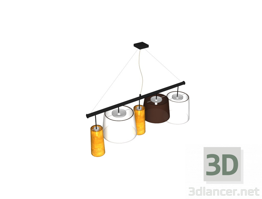 3d modeling 5 lamp shades model free download