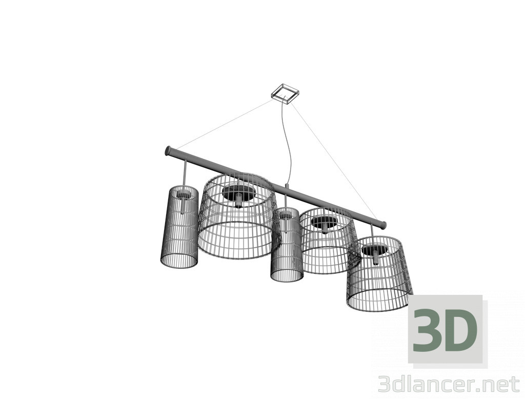 3d model 5 lamp shades - preview
