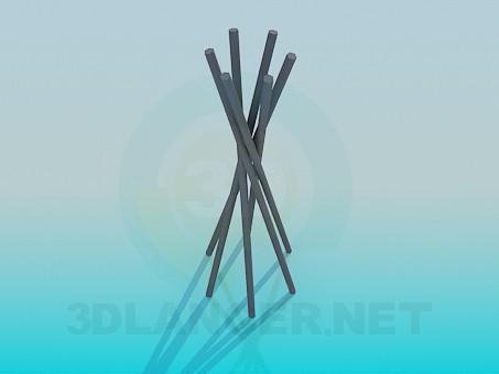 3d модель Металлические прутики для декора – превью