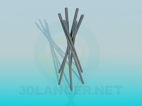 3d model Metal prutiki for decoration - preview