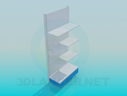 Wall rack metal