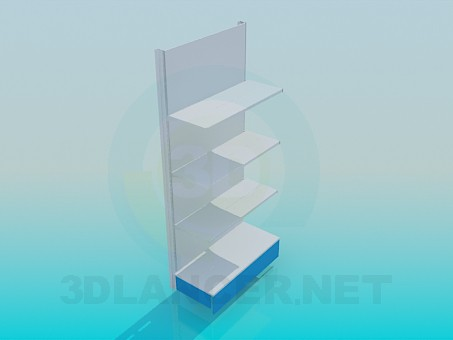 3d model Wall rack metal - preview