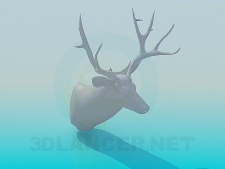 3d модель Голова оленя – превью