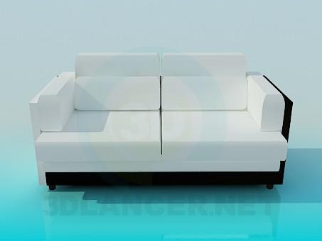 3d модель Софа 2-х местная – превью