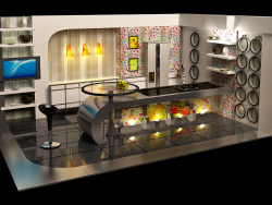 Virtual TV kitchen Studio Broadcast