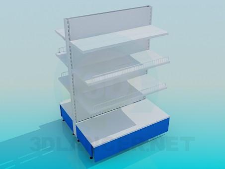 descarga gratuita de 3D modelado modelo Estanterías metálicas de la isla