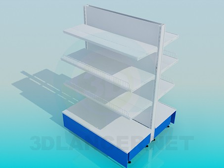 3d model Metal shelving of the island - preview