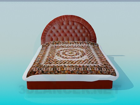 3d modeling Bed with soft head of the bed model free download