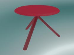 Tavolo MIURA (9553-51 (Ø 60cm), H 50cm, rosso traffico, rosso traffico)