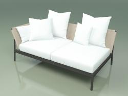 Sofa module right 004 (Metal Smoke, Batyline Sand)