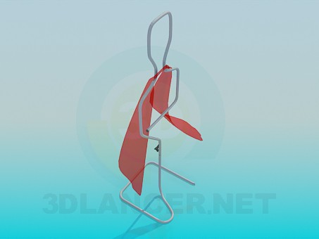 3d model Clothes rack - preview