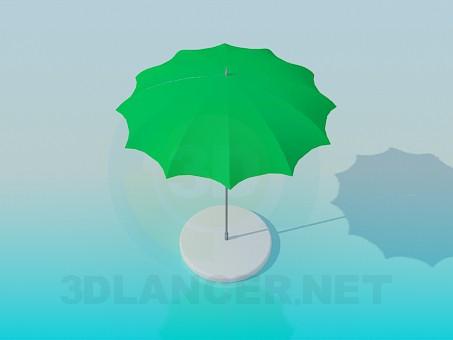 3d modeling A stationary sun umbrella model free download